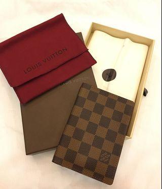 LV全新正品棋盤格護照夾