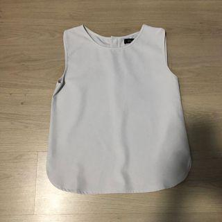 Office sleeveless blouse