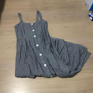 Grey Pinstripe Dress