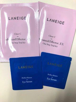 Laneige 4件旅行套裝(面部爽膚水x2 連棉花+眼部精華x2)