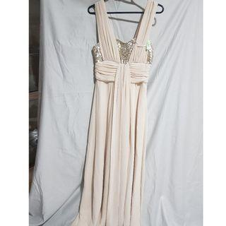 FOREVER NEW CREAM FORMAL GOWN