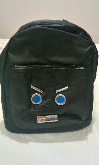 TAS Gendong / Backpack hitam wanita lucu BARU JUAL RUGI !!
