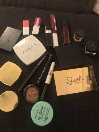 90% new makeup set (authentic) dior / marc jacob / sleek