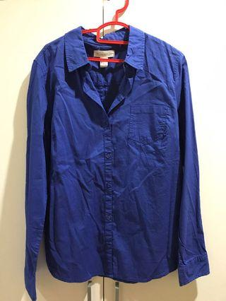 Navy Blue Forever 21 Button Down Shirt