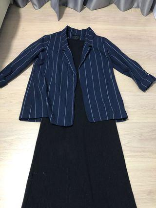 CO Navy stripe blazer