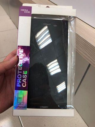 🚚 SONY XZ Premium 透視皮套 黑 MEGA KING