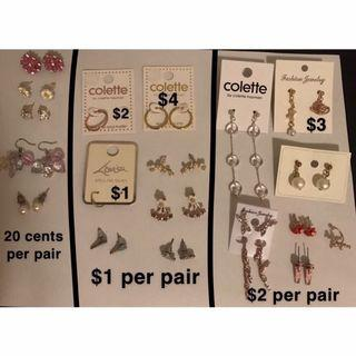 Earrings from 20 cents!!!