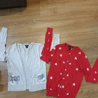 H&m sequin and mango star cardigan