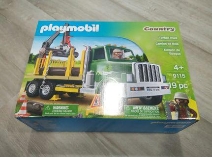 (With Free Gift) Playmobil Country Timber Truck 9115