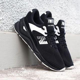 🚚 現貨 iShoes正品 New Balance X90 男鞋 黑白 編織 網布 條紋 復古 運動鞋 MSX90PLF D