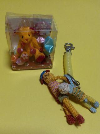 #兩款熊bear bear,其一隻handmade熊bear bear鎖匙扣
