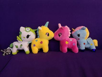Brand new Soft Toys Unicorns