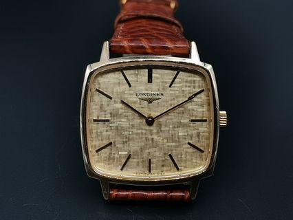 Longines 847-4142手上弦方型包金手錶