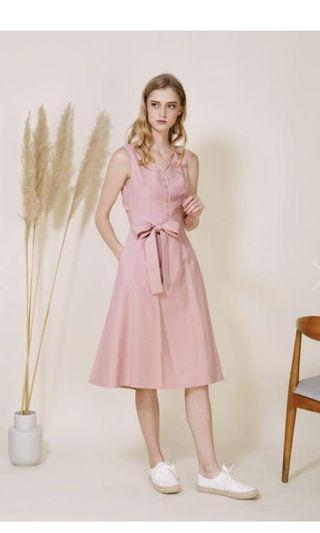 BNWT And Well Dressed Duet Wrap Dress Blush Size S
