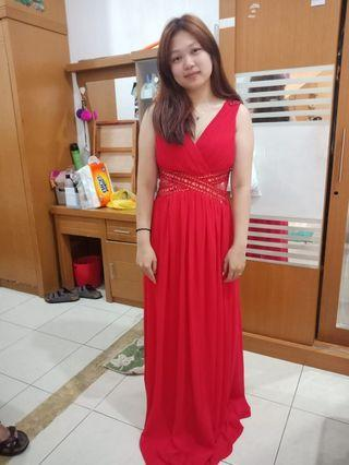 Sexy red Long Dress