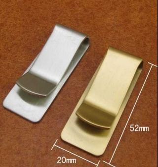 Solid Brasd Plain Design Money Clip