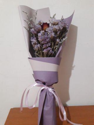 乾燥花 玫瑰紫星辰花束