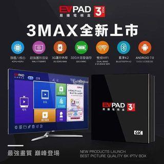 EVPAD 3MAX 3+32GB internet tv box