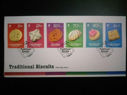 #MRTRaffles Traditional Biscuits FDC stamp