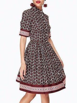 Sale! 😍Kate Spade floral tile shirt dress