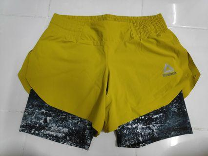 Reebok shorts with built in tights