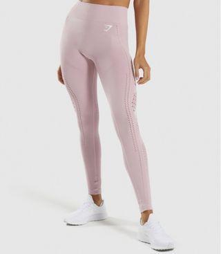 Pink Gymshark Flawless Knit leggings