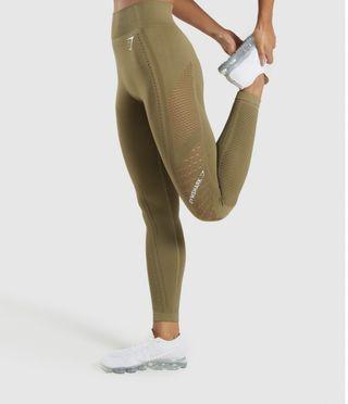 Green Gymshark flawless knit leggings