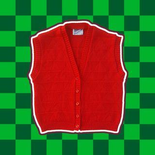 Caravelle - Red Knitted Vest (S)