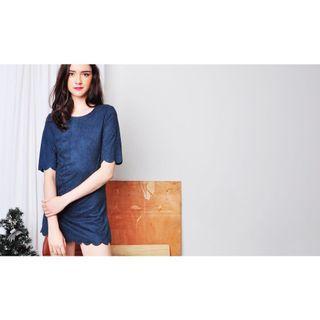 🚚 Suede Blue Dress