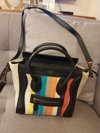 Celine multicolour stripe sling bag