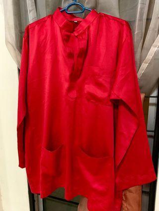 Baju Melayu kilat licin