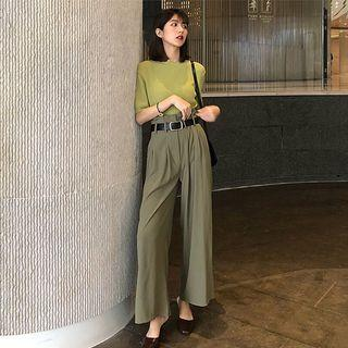 🚚 Olive green wide legged pants