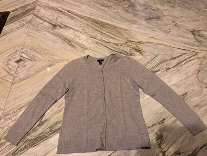 GAP Cardigan Crewneck Slim Fit - Grey