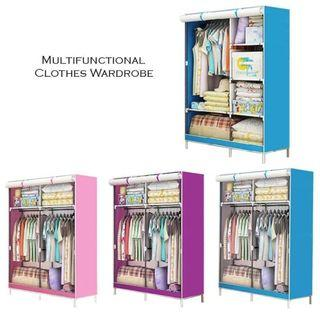 Multifunctional One-Price Roll Up Curtain Clothes Wardrobe