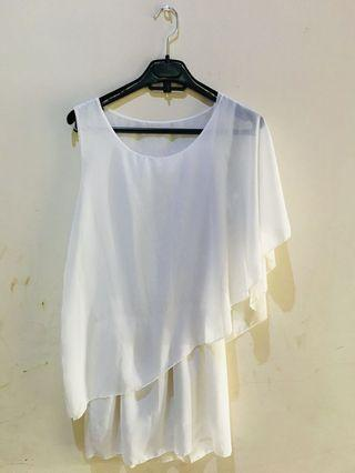 Mini dress white #mauthr