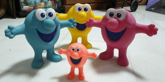 Vintage Hard To Find USA Mr. Bubble Advertising Mascot Figures