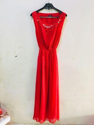 Long dress tanpa lengan #mauthr