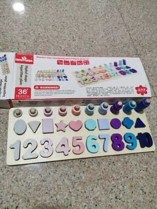 1 to 10 wooden toys