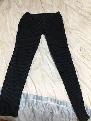 🚚 二手·Uniqlo緊身條紋褲