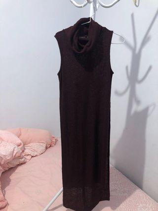 Stradivarius long shirt - maroon
