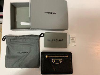 Balenciaga card holder wallet coin purse black