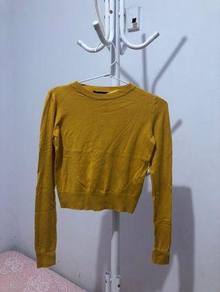 Bershka yellow (mustard) knitwear