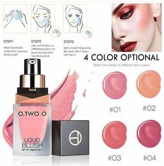 Liquid blush on