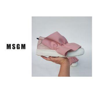 MSGM Ruffle Slip On Sneakers