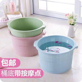 优思居按摩洗脚盆塑料家用泡脚盆女冬季加厚加高洗脚足浴桶泡脚桶