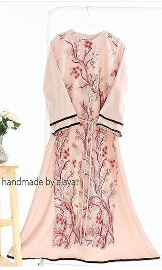 Dress gamis syaima brukat costum by alsyaoutfit