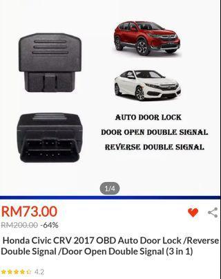 Honda Civic / Crv 2017 OBD lock