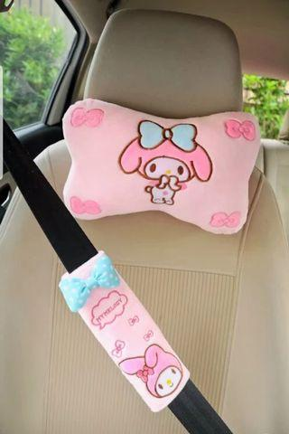 My Melody Seat Neck Pillow / Belt Protector