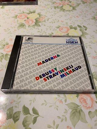 Maderna Debussy Stravinskij Milhaud CD 編號013