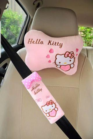 Hello Kitty Car Neck Pillow / Seat Belt Protector